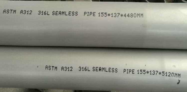 ASTM A312 Tp316L Seamless Pipe 155*137*5120MM